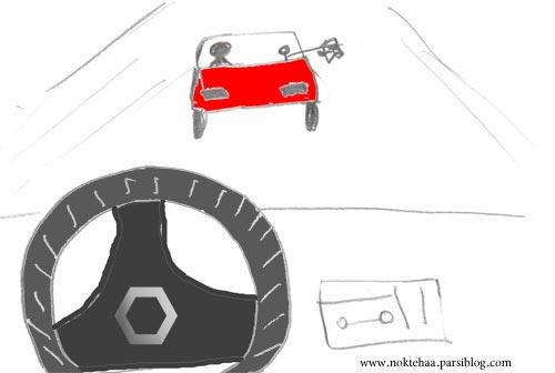تعقیب و گریز ماشینی که زباله را در خیابان انداخت